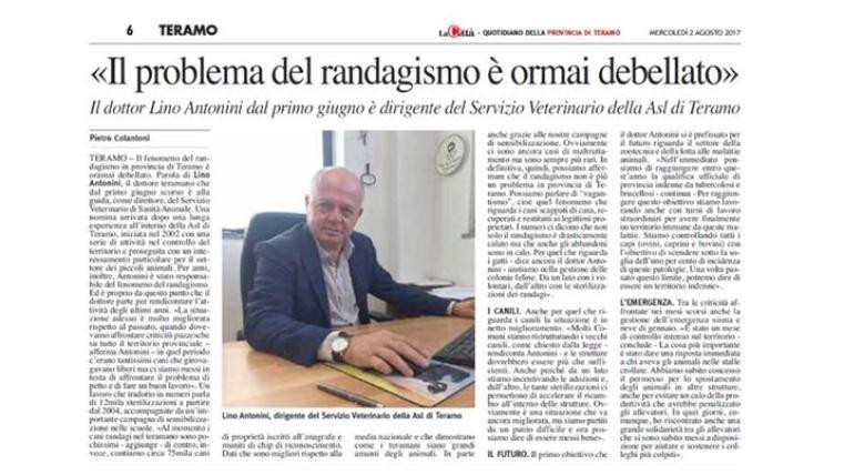 Lasl Di Teramo Smentisca Antonini Sulla Fine Del Randagismo I