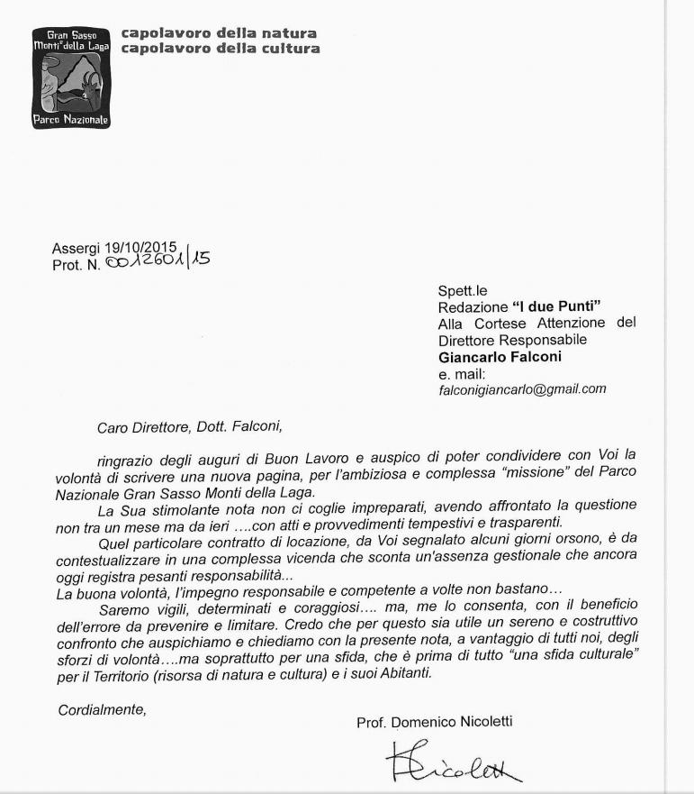 Ente parco il direttore nicoletti risponde sulle strane - Legge sulle locazioni ...